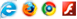 Internet Eexplorer Logo, Firefox Logo, Chrome Logo e Flash Logo